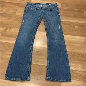 BKE 'starlite' flare jeans size 27R